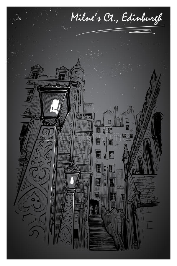 Notte della corte di Milnes illustrazione vettoriale