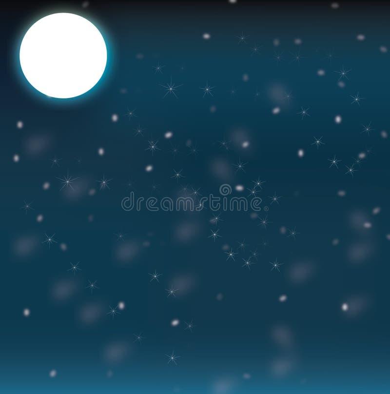 Notte della luna illustrazione di stock
