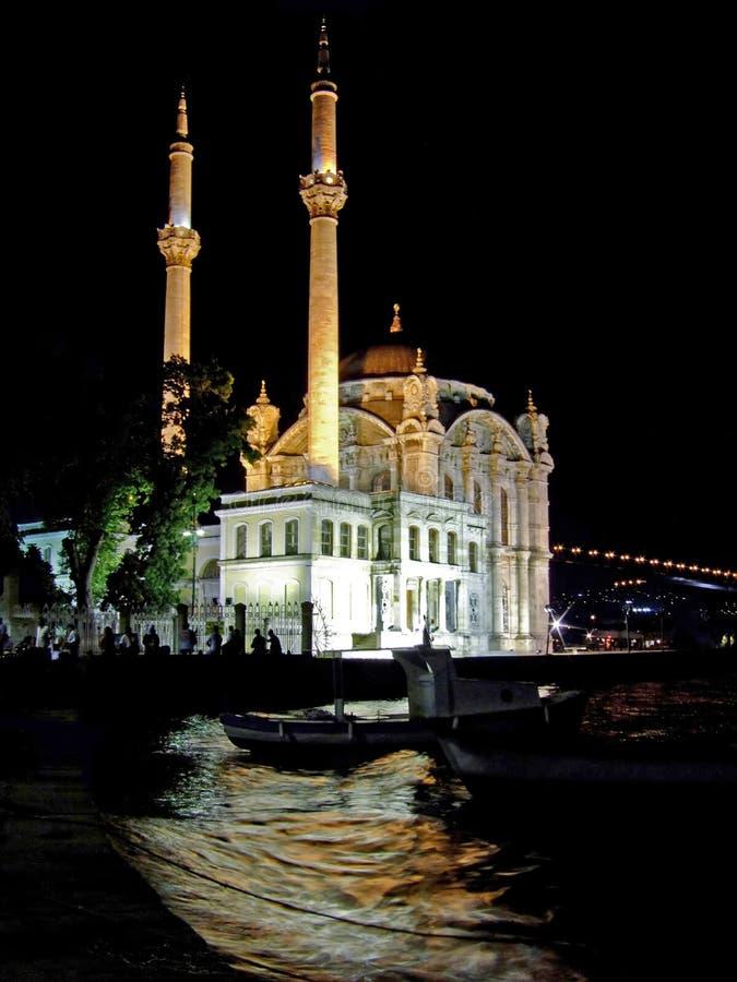 Notte della moschea immagini stock