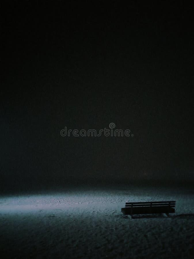 Notte della nebbia dell'atmosfera immagini stock libere da diritti