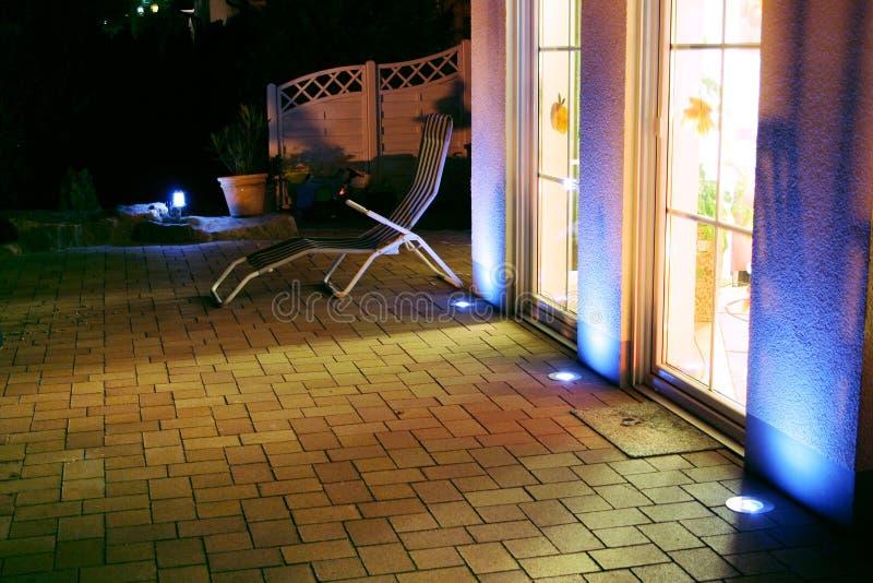 Notte della nuova casa fotografia stock