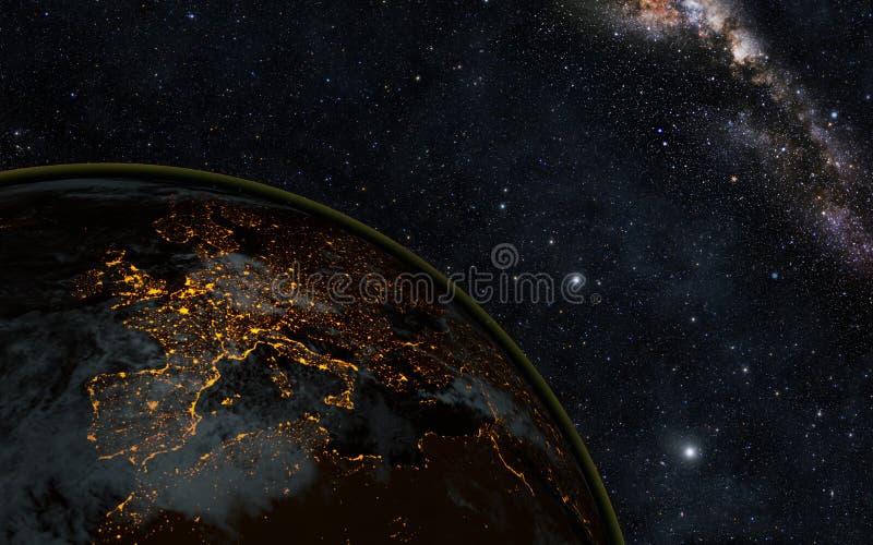 Notte della terra fotografia stock