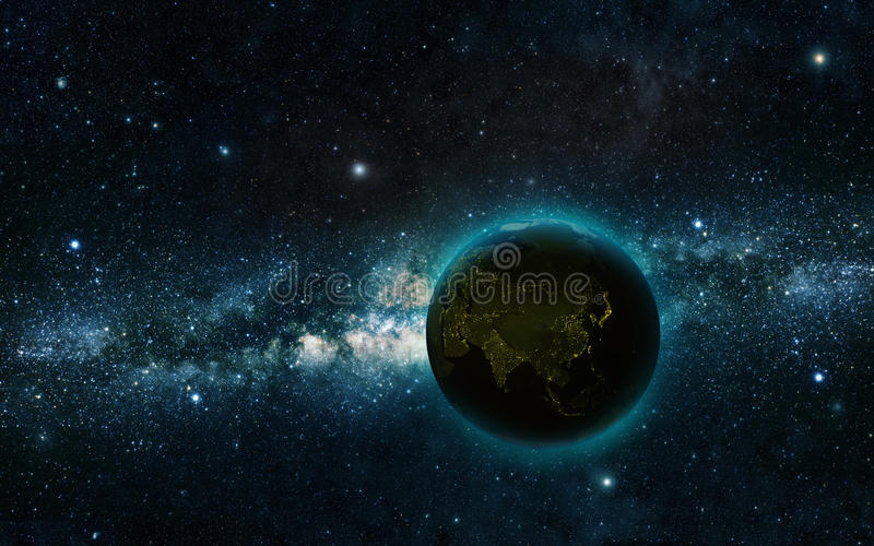 Notte della terra immagini stock libere da diritti