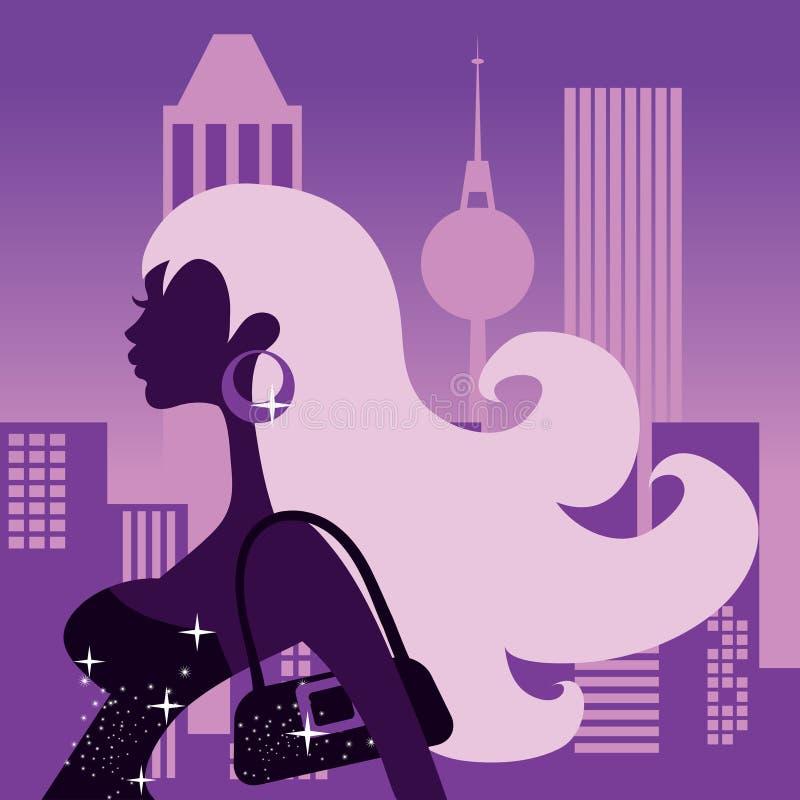Notte delle ragazze fuori royalty illustrazione gratis