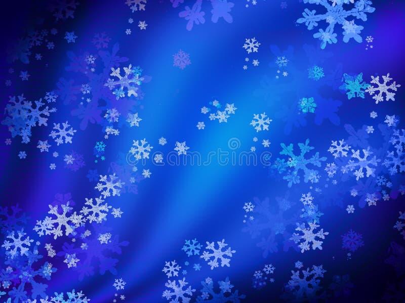 Notte dello Snowy illustrazione di stock