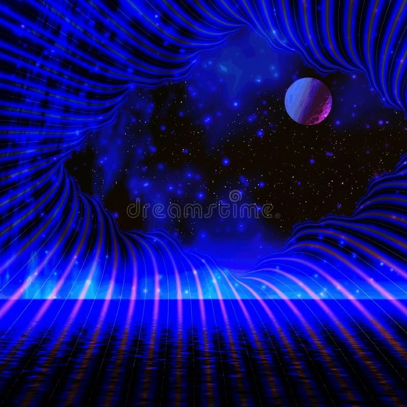 Notte dello spazio illustrazione vettoriale