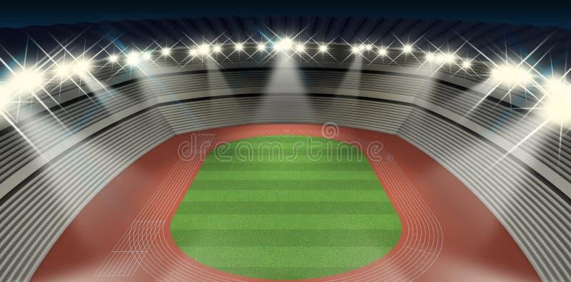 Notte dello stadio di atletica royalty illustrazione gratis