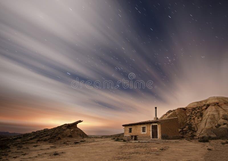 Notte di Bardenas fotografia stock libera da diritti