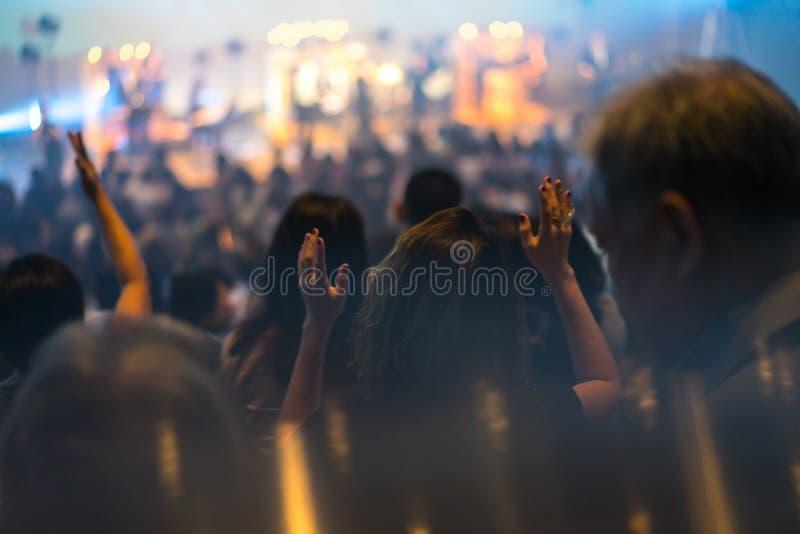Notte di culto immagini stock