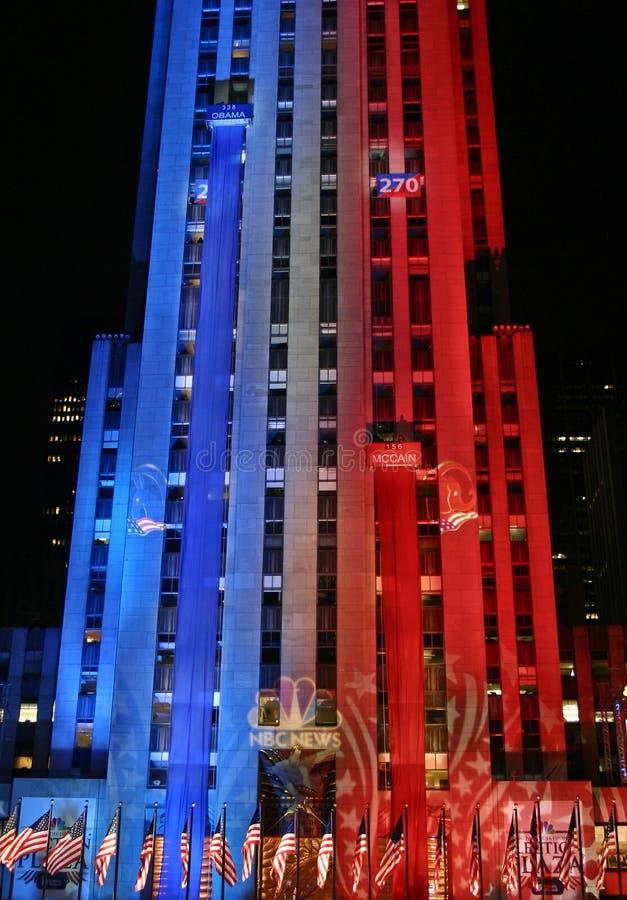 Notte di elezione di New York fotografia stock
