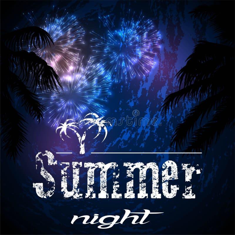 Download Notte di estate illustrazione vettoriale. Illustrazione di sera - 55357526
