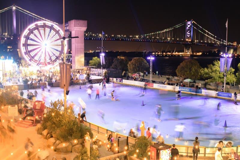 Notte di estate in Filadelfia fotografia stock libera da diritti