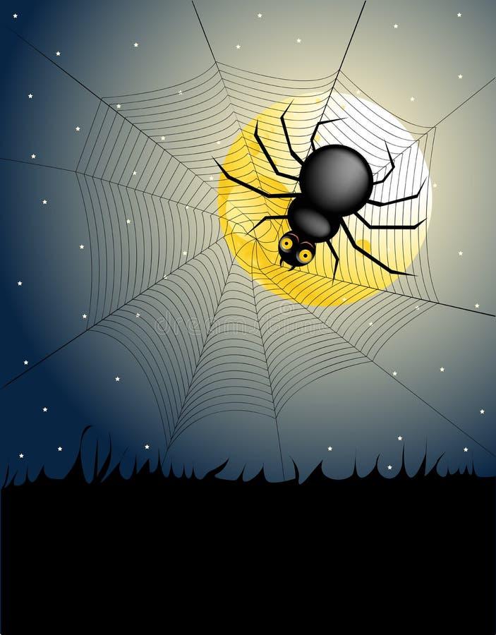 Notte di Halloween - ragno royalty illustrazione gratis
