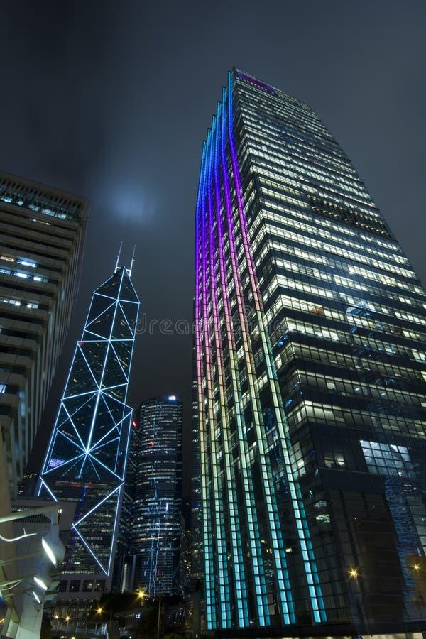 Notte di Hong Kong immagine stock libera da diritti