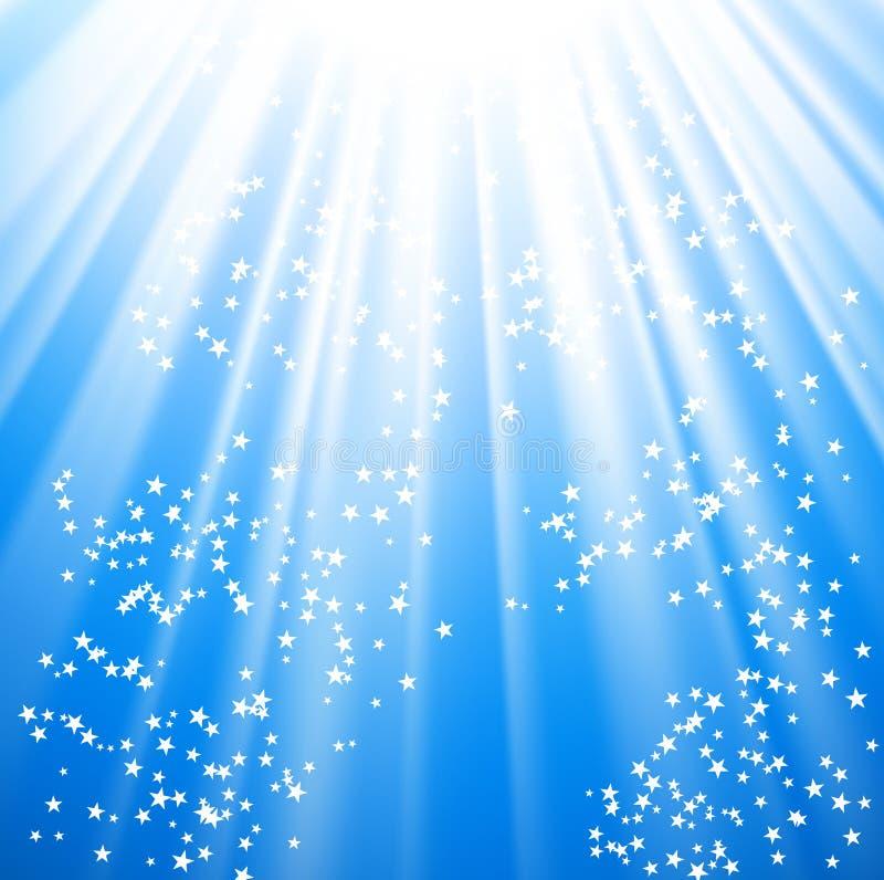 Notte di indicatore luminoso magico illustrazione di stock
