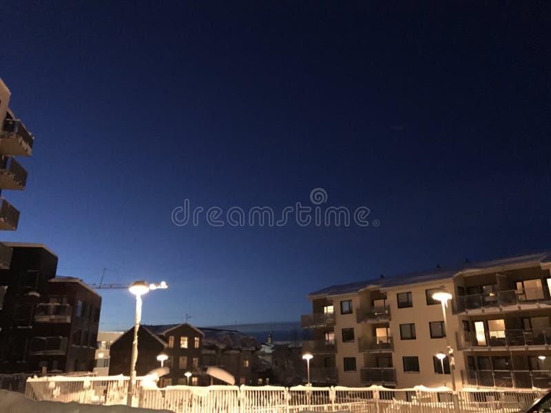 Notte di inverno immagini stock