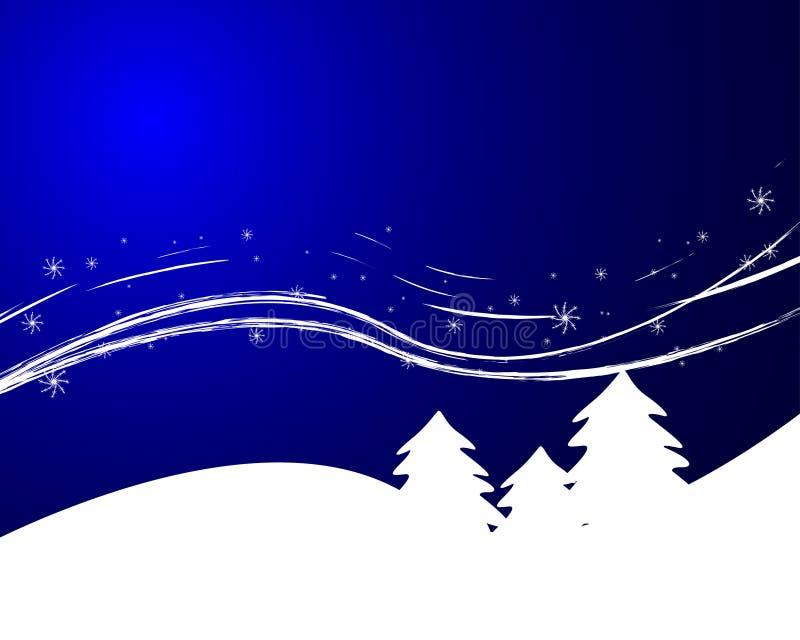 Download Notte di inverno illustrazione vettoriale. Illustrazione di albero - 7307777