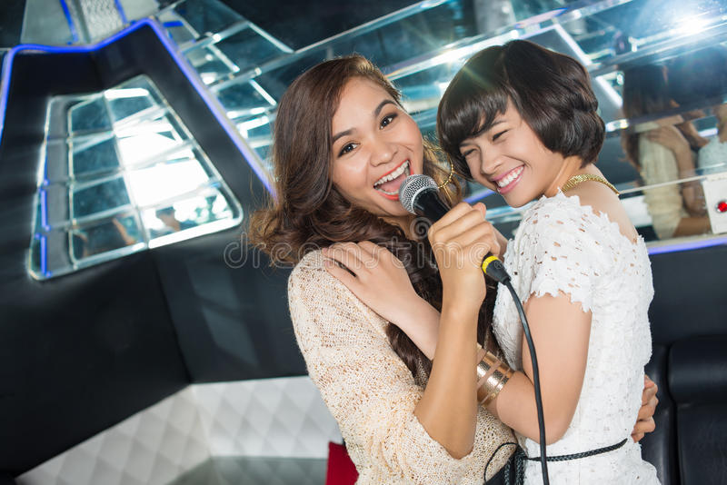 Notte di karaoke immagine stock libera da diritti