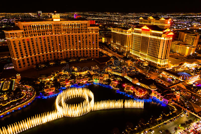 Notte di Las Vegas fotografie stock libere da diritti