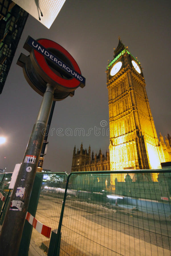 Notte di Londra fotografia stock