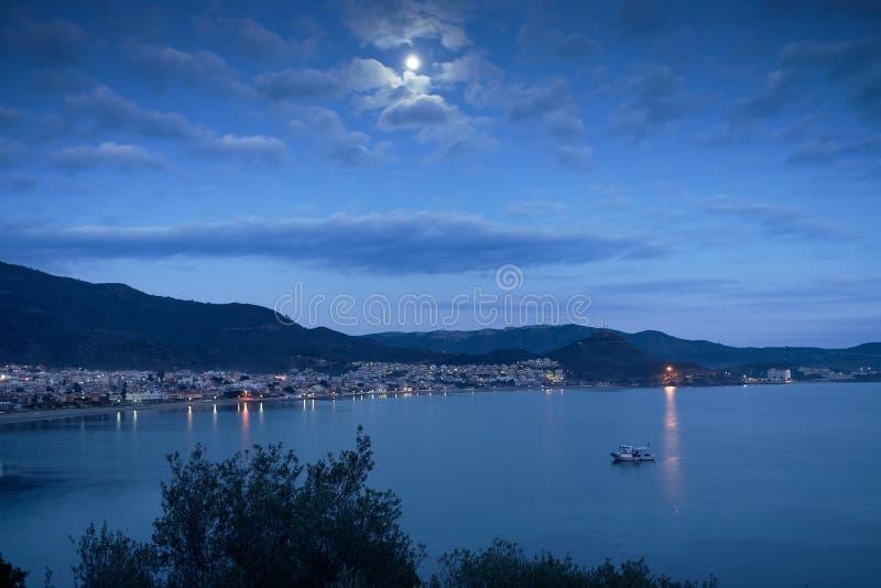Notte di luce della luna immagini stock libere da diritti