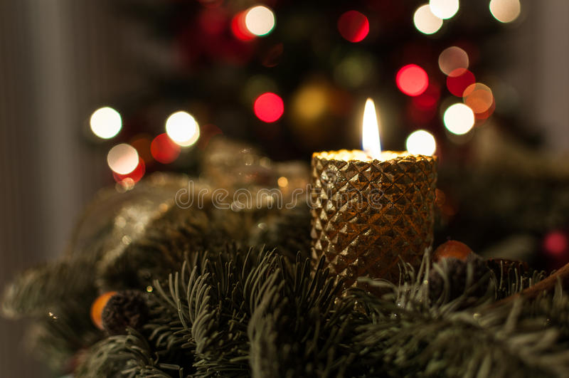 Notte di magia di Natale fotografia stock libera da diritti