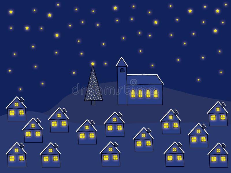 Notte di natale illustrazione di stock