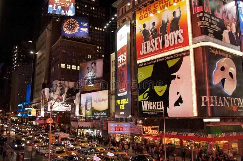 Notte di Natale al quadrato di tempo fotografia stock libera da diritti