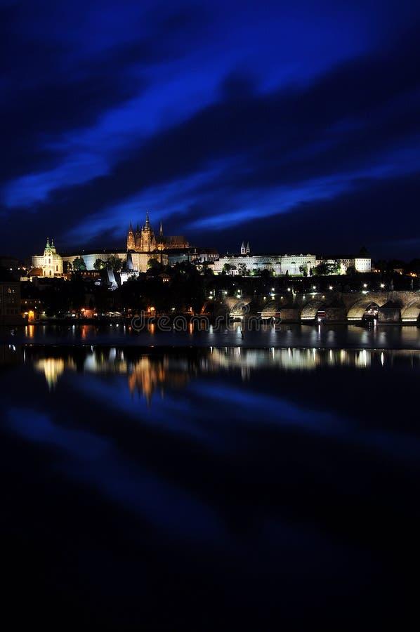 Notte di Praga fotografia stock libera da diritti