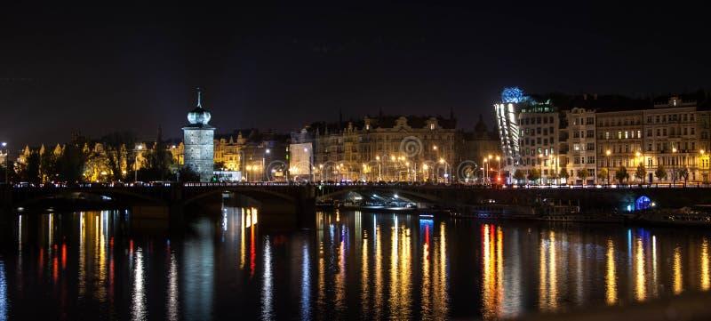 Notte di Praga fotografia stock