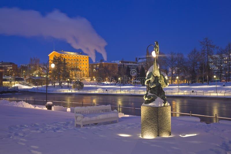 Notte di Tampere fotografia stock libera da diritti