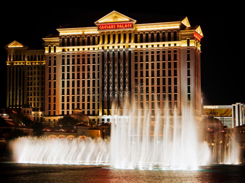 Notte di Vegas fotografia stock
