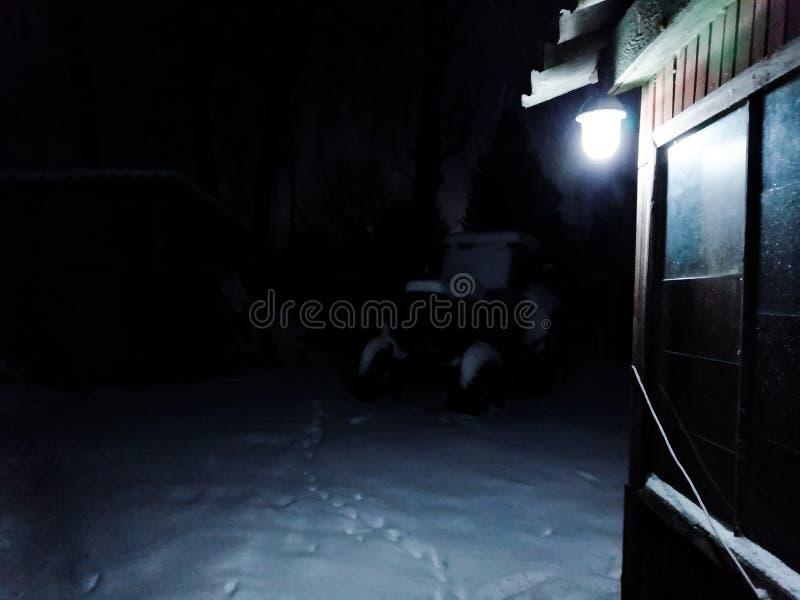 Notte e luce immagini stock