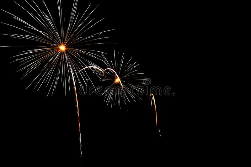 notte fireworkby fotografie stock