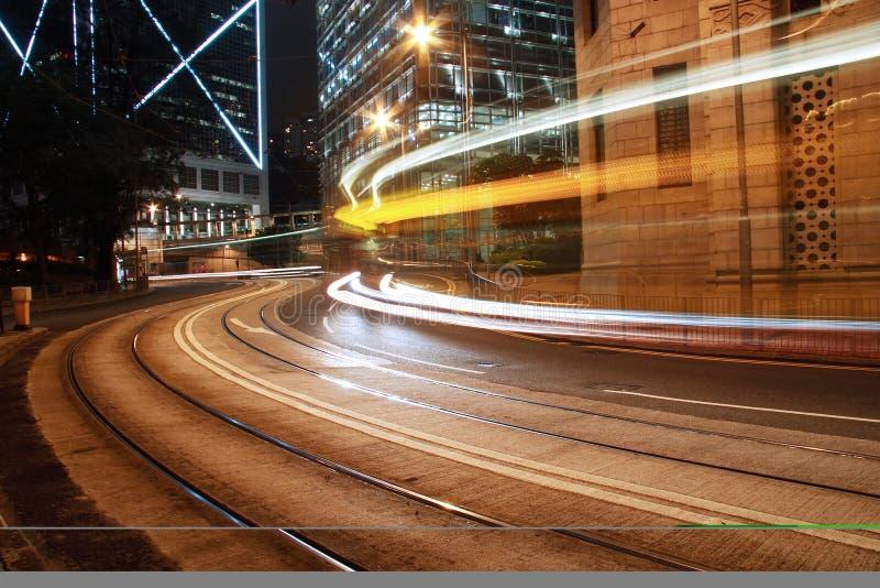 notte a Hong Kong immagine stock