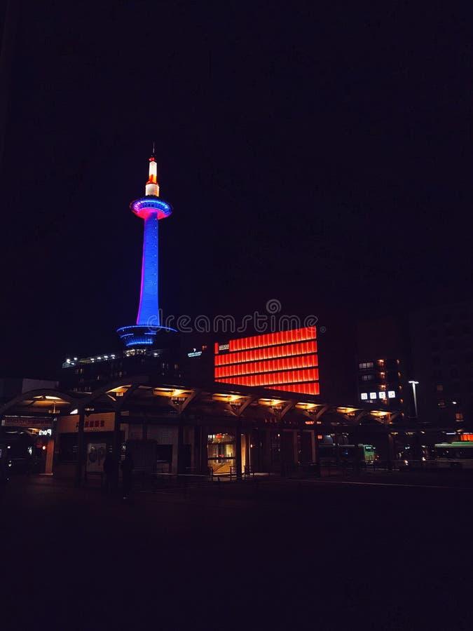 Notte a Kyoto fotografie stock