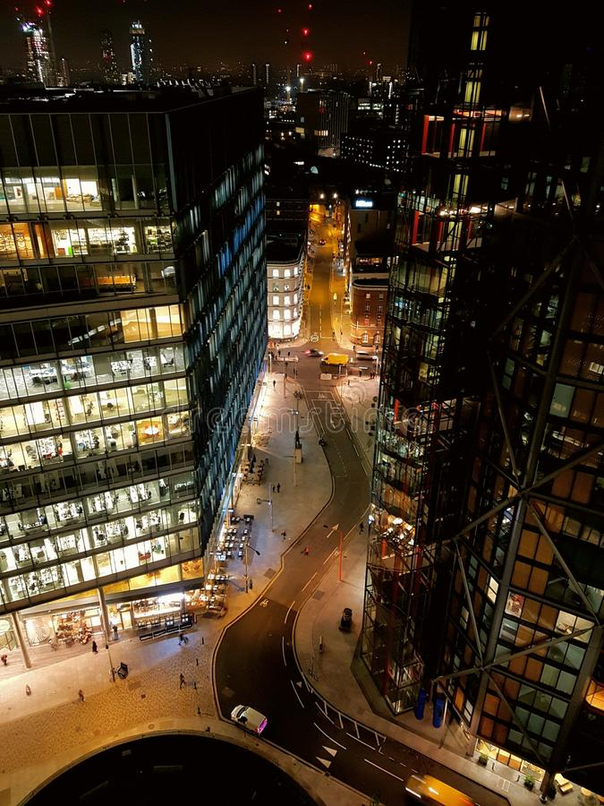 Notte Londra immagini stock