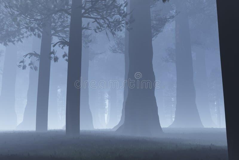 Notte magica della foresta royalty illustrazione gratis