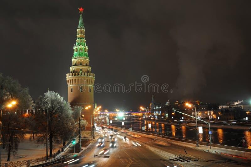 Notte Mosca. La Russia immagini stock