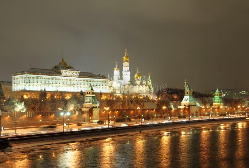 Notte Mosca. La Russia fotografia stock