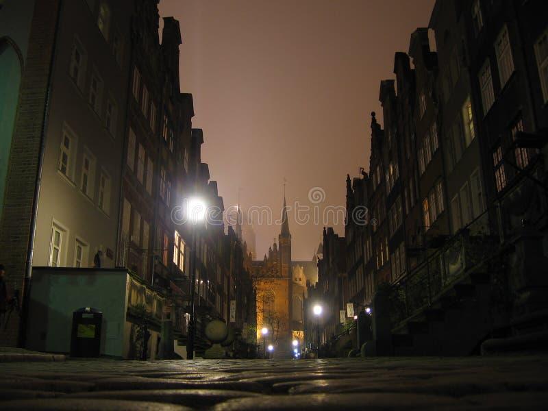 Notte nebbiosa fotografia stock libera da diritti