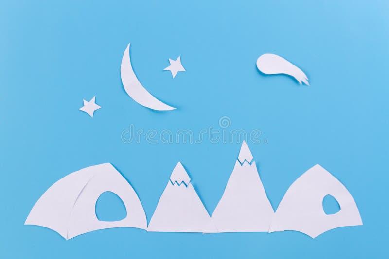Notte nelle montagne fotografie stock