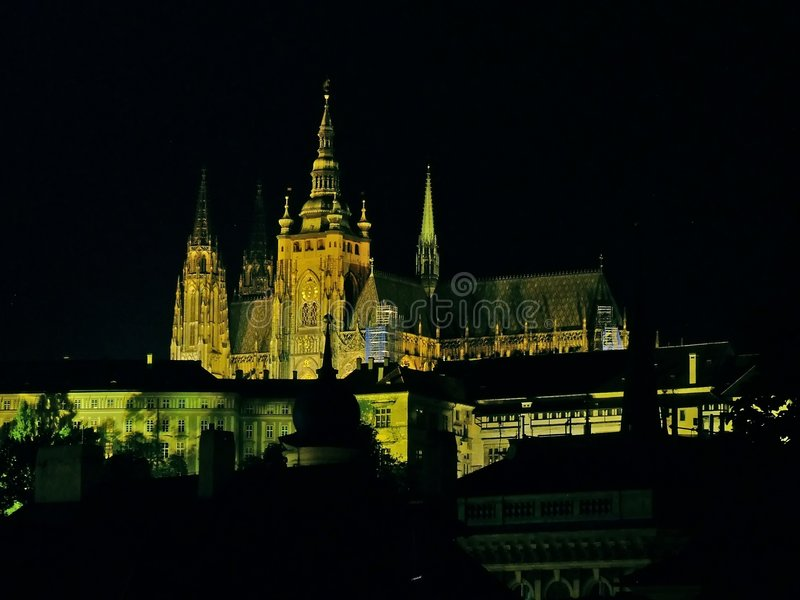 Notte Prag immagini stock