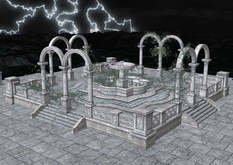 notte romanica dell'illustrazione 3d illustrazione vettoriale