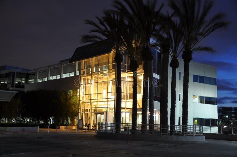 Notte in Silicon Valley fotografie stock libere da diritti