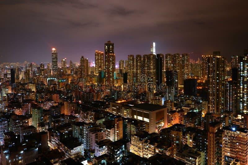 Notte sparata della città fotografia stock