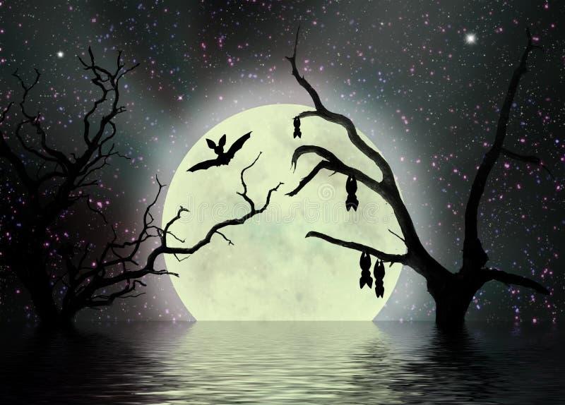 Notte spaventosa, priorità bassa di fantasia illustrazione vettoriale