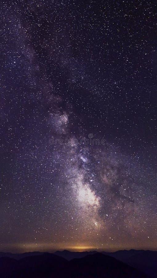Notte stupefacente della stella con la parte del sud della Via Lattea immagini stock libere da diritti