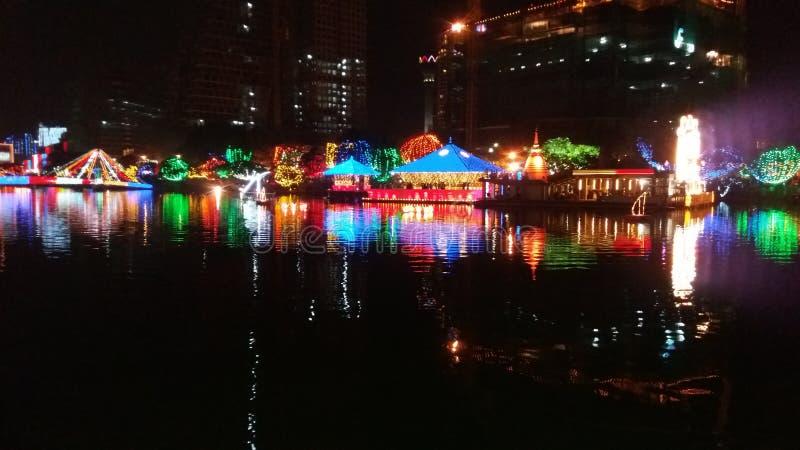 Notte variopinta, Colombo, stagione di festival immagine stock