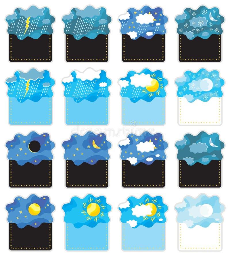 Notte/vettore di /day delle bandiere del tempo illustrazione di stock